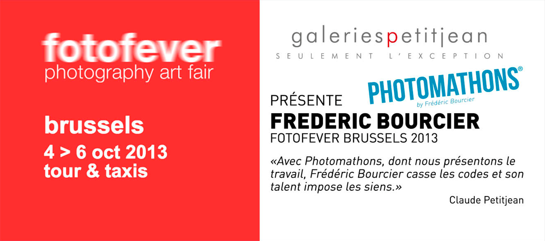 frederic bourcier galerie claude petitjean exposition photomathons fotofever 2013 brussels